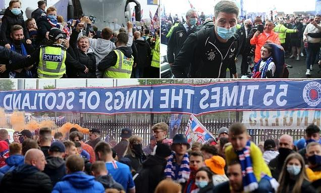 Rangers fans gather in their thousands at Ibrox on trophy lift day