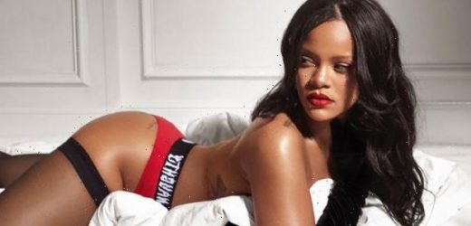 Rihanna Wears Just Her Purple Savage X Fenty Boxers As She Enjoys A Throwback 'Playboy' Mag In Sexy Pic