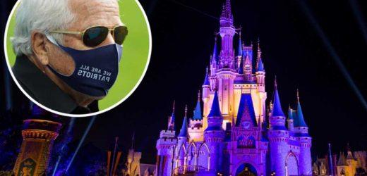 Robert Kraft flies frontline worker family to Disney World on private jet