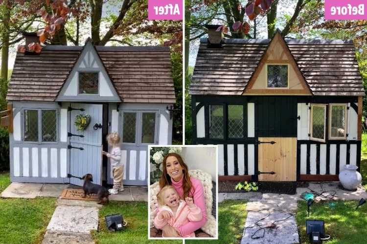 Stacey Solomon transforms Rex's Wendy House with a lick of paint & it looks as good as an actual house