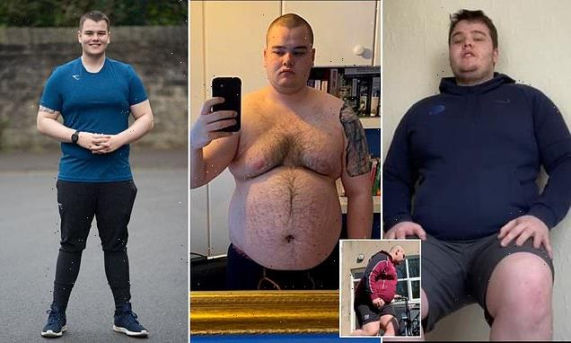 Student, 21, reveals he lost SEVEN stone in a year