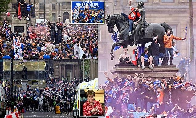 Sturgeon condemns 'disgraceful' Rangers fans who 'rampaged' in Glasgow