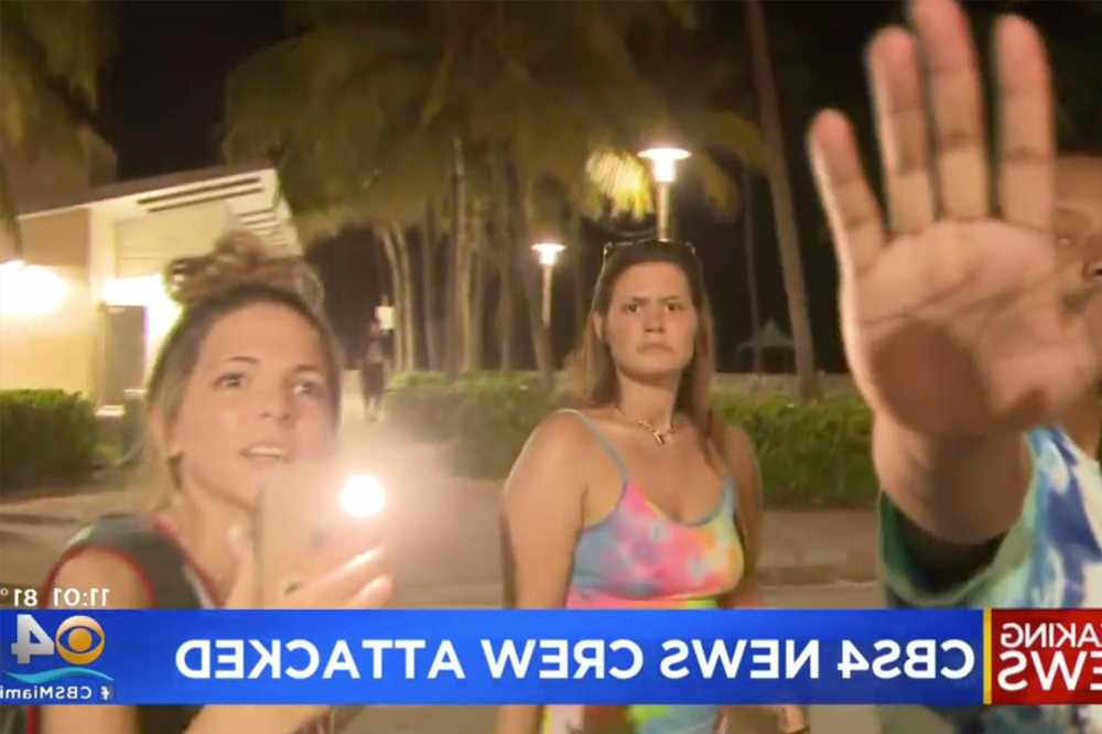 TV crew attacked after filming fight for report on Miami Beach chaos