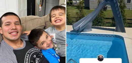 Teen Mom Kailyn Lowry's ex Javi Marroquin reveals new backyard of Delaware home featuring patio & pool with water slide