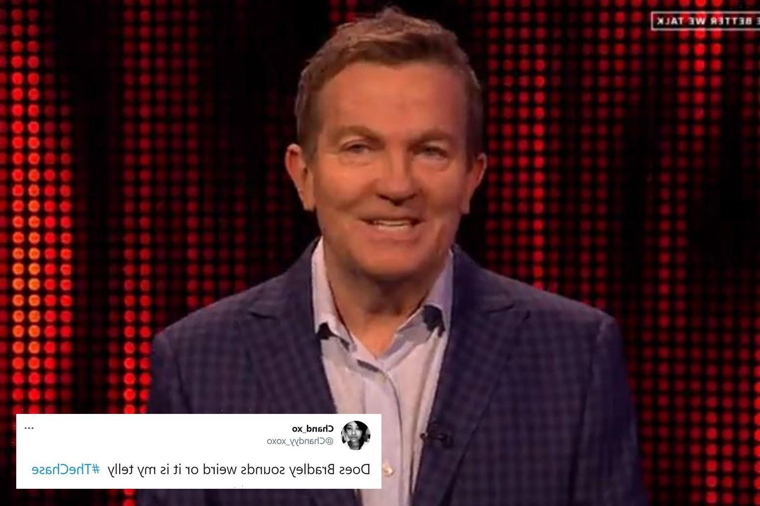 The Chase viewers baffled as Bradley Walsh sounds very different