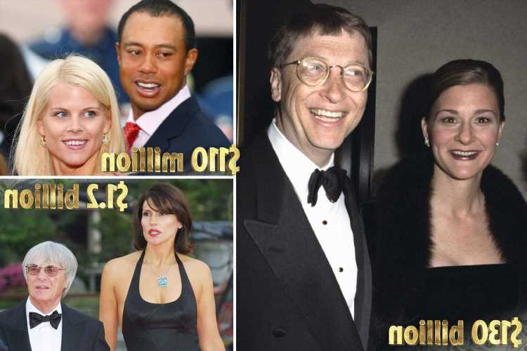 The most expensive divorces ever as Bill Gates announces split from wife Melinda with $130 billion fortune to be split