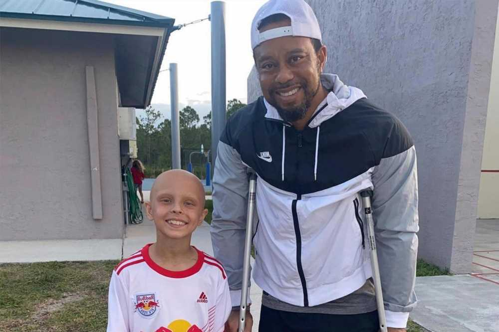 Tiger Woods makes rare appearance for young girl battling cancer