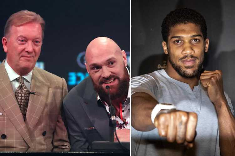 Tyson Fury's promoter Frank Warren warns Anthony Joshua to not 'slip up' in next fight and wants December British scrap