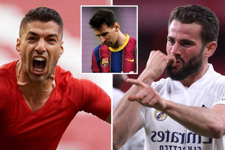 Watch Luis Suarez score dramatic late winner to keep Atleti ahead of Real Madrid in LaLiga title race as Barca crash out
