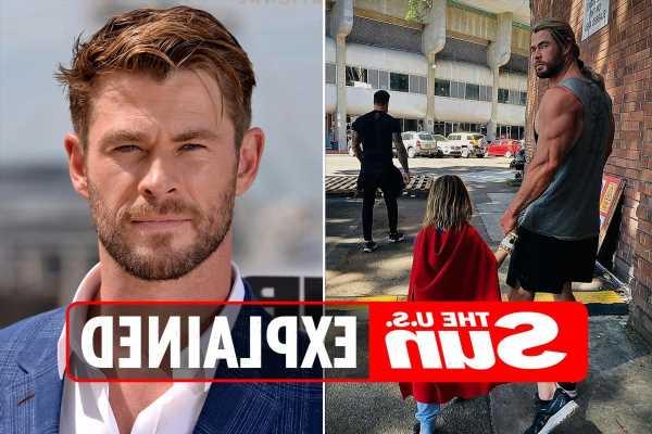 Why are Chris Hemsworth's legs trending?