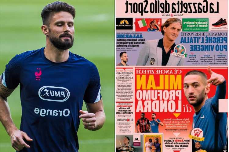 AC Milan 'in talks with Chelsea over TRIPLE transfer raid for Hakim Ziyech, Olivier Giroud and Fikayo Tomori'