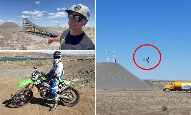 Alex Harvill dies after world record 351ft motorcycle practice jump