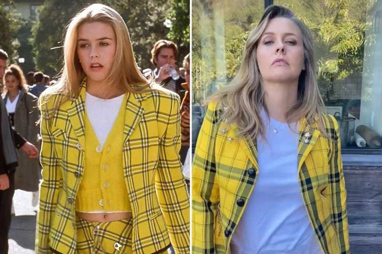 Alicia Silverstone recreates her Clueless character Cher's iconic scene with 9-year-old son 26 years after film's debut