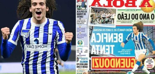 Arsenal bad boy Matteo Guendouzi wanted by Benfica as they look to hijack Marseille transfer