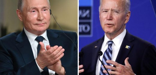 Biden laughs when asked if he still thinks Putin is a 'killer' and says Russian leader is a 'worthy adversary'