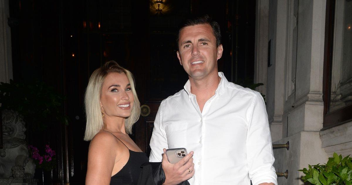 Billie Faiers wows in black LBD for London date night with husband Greg Shepherd