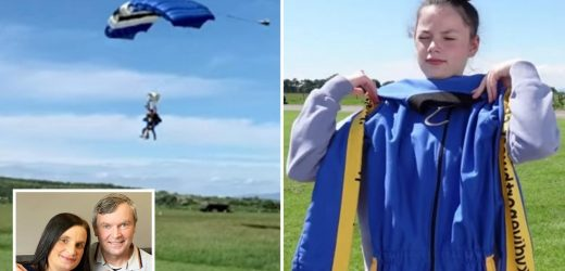 Britain's biggest family the Radfords go skydiving as mum-of-22 Sue shows bumper day out