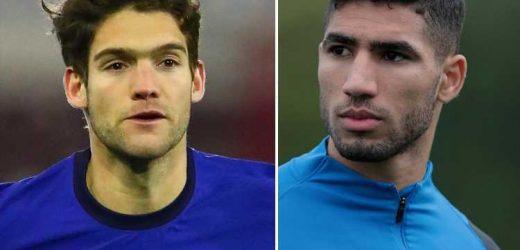 Chelsea increase Achraf Hakimi transfer offer to £52million PLUS Marcos Alonso in desperate bid to land Inter Milan star