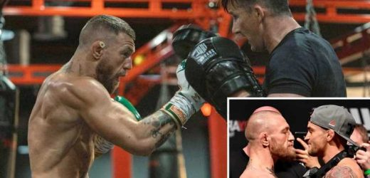Conor McGregor shows off bulging muscles as he vows to 'be about it' in UFC 264 trilogy fight with Dustin Poirier