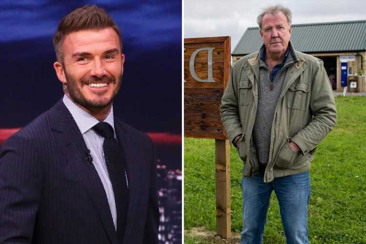 David Beckham buys his milk from Jeremy Clarkson's farm – and leaves staff 'blushing' when he goes in