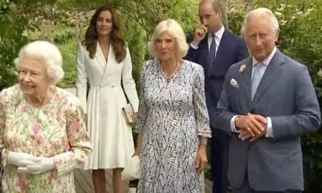 Duchess of Cambridge in a pristine coat dress for G7 reception