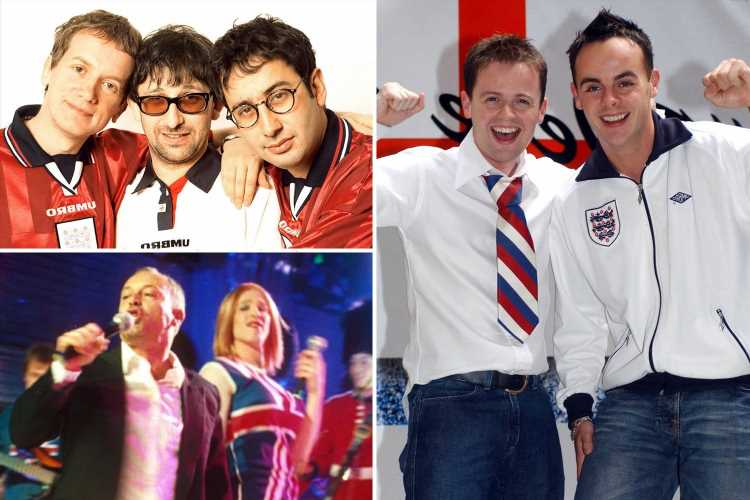 England best and worst football songs, from Baddiel and Skinner's Three Lions to Ant & Dec's We're on the Ball