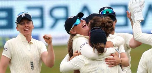 England seize control of the Women's Test following India's dramatic batting collapse