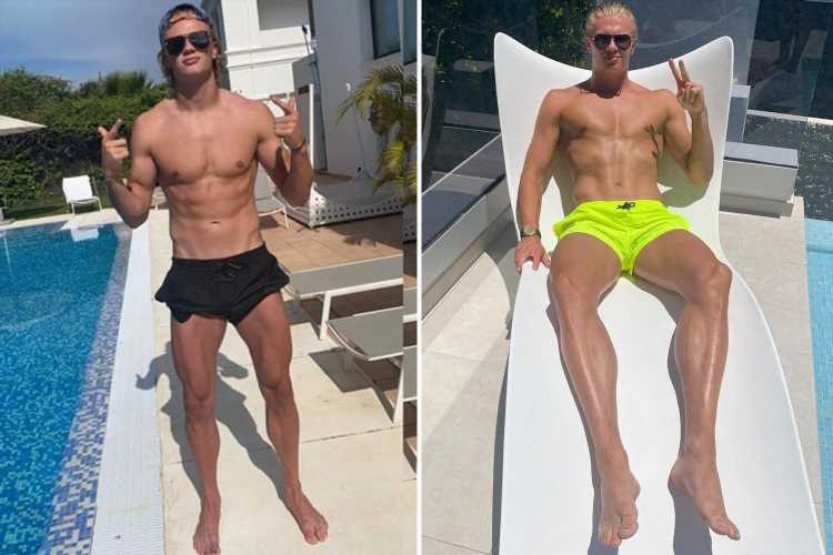 Erling Haaland rubbishes claims he spent £430k on dinner in Mykonos as he enjoys summer holiday on Greek island