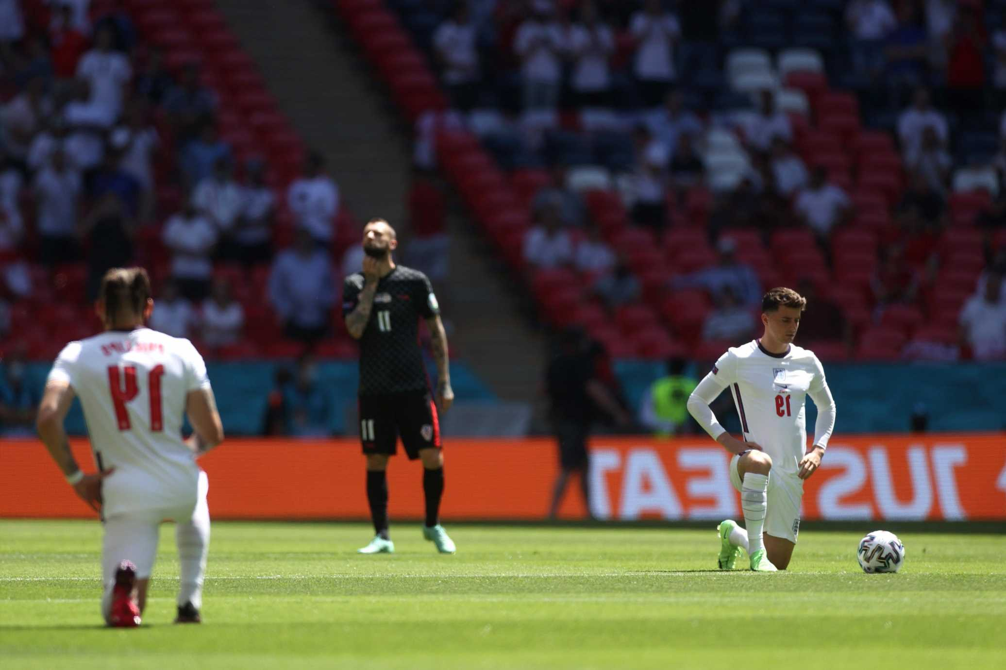 Euro 2020 – Majority of England fans respect taking of the knee and drown out any attempts to boo by tiny minority