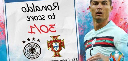 Euro 2020 – Portugal vs Germany: 30/1 odds for Cristiano Ronaldo to score