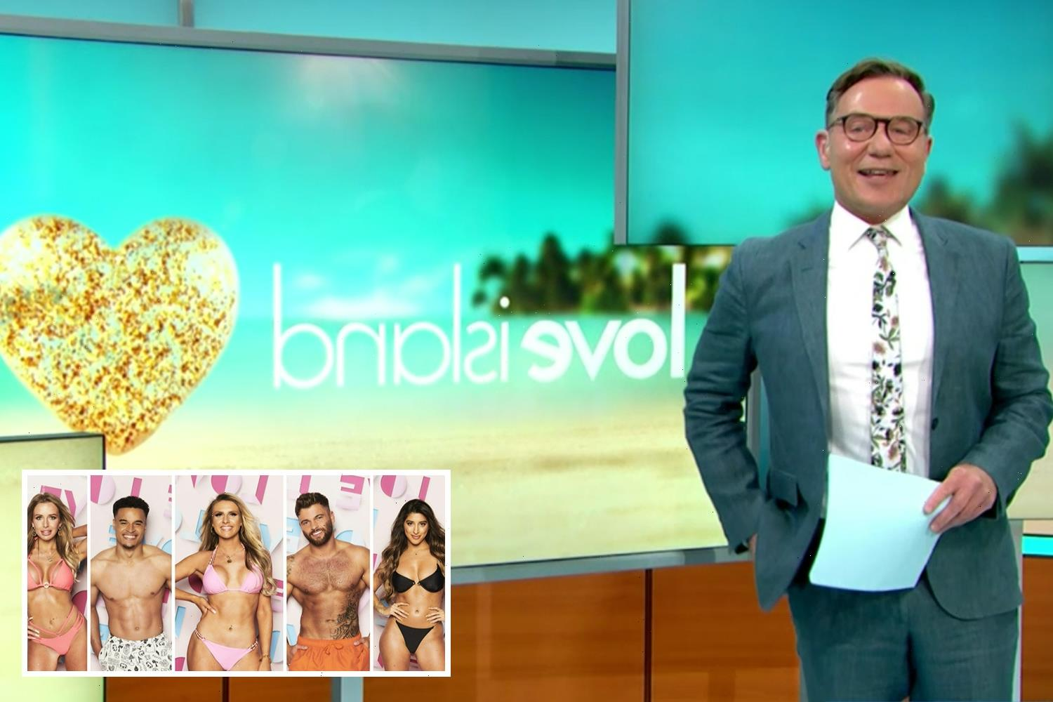 Good Morning Britain's Richard Arnold told 'stop drooling!' over Love Island hunks by Susanna Reid as line-up revealed