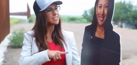 Gun-loving Rep. Lauren Boebert trolls Kamala Harris by bringing cutout of VP to the border