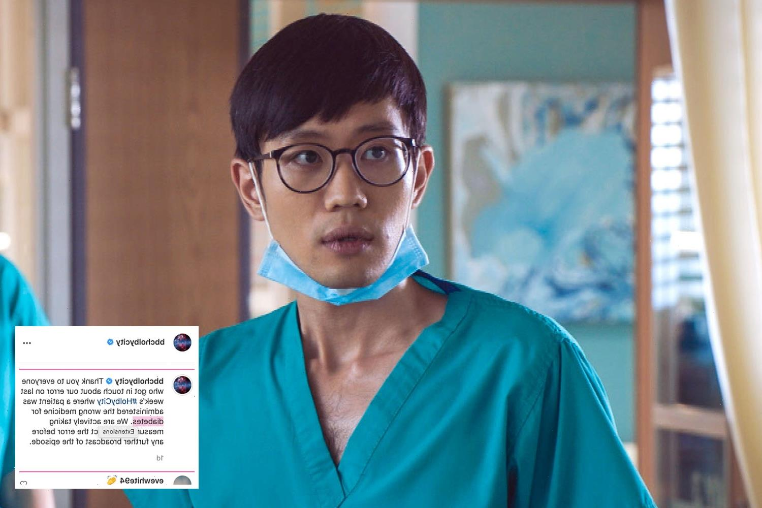Holby City bosses forced to apologise after diabetic blunder on screen