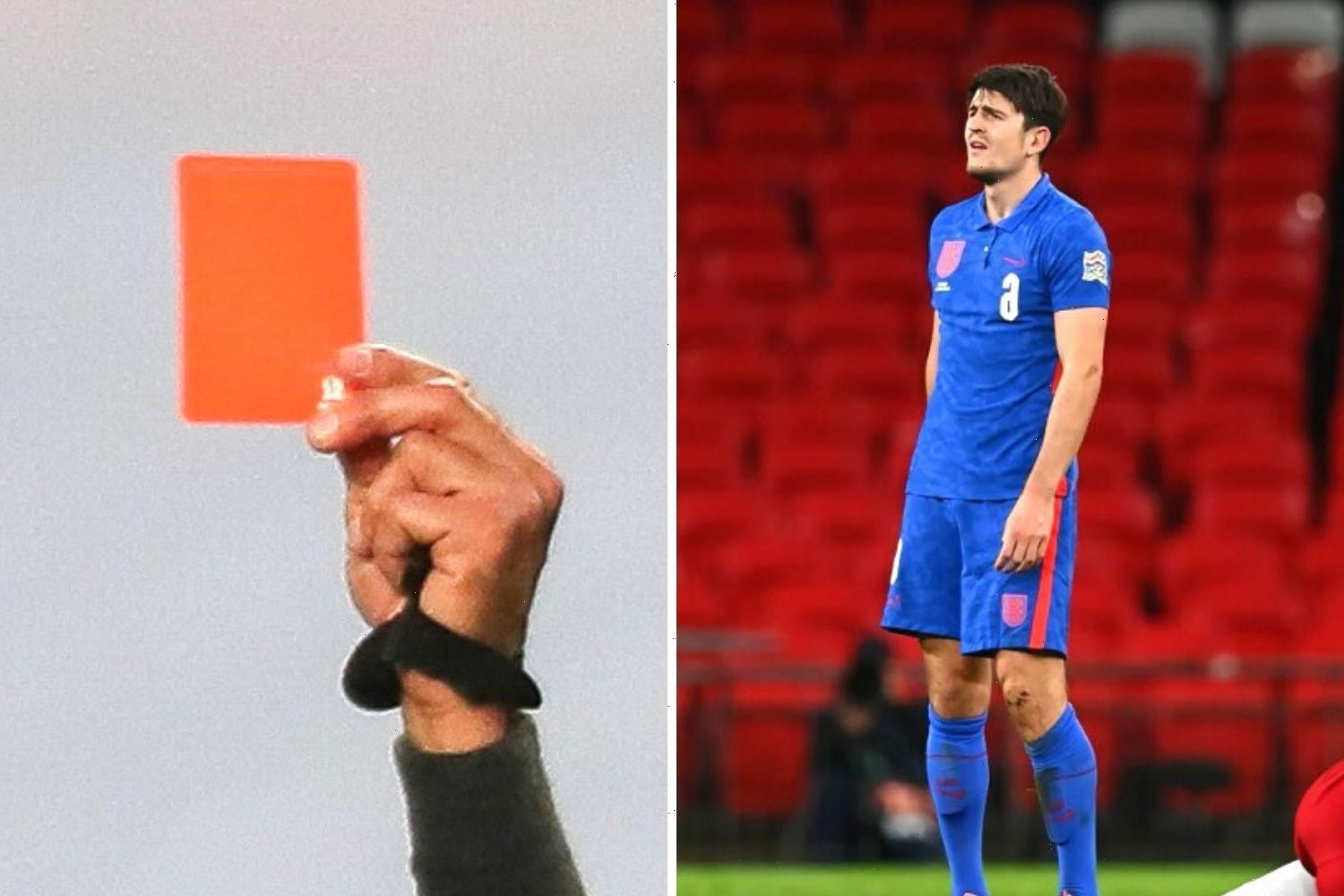 How many red cards at Euro 2020 and what is the suspension?