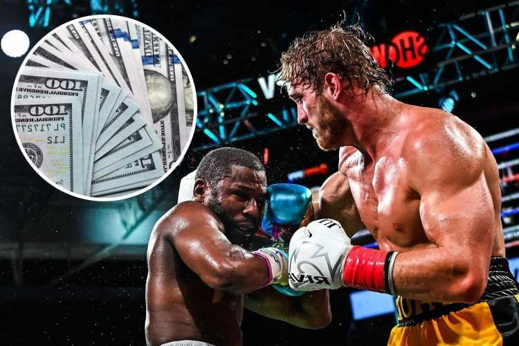 How much money did Logan Paul and Floyd Mayweather earn for fight?