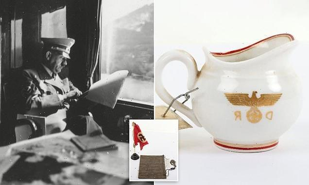 Items salvaged from Adolf Hitler's train by a British officer for sale