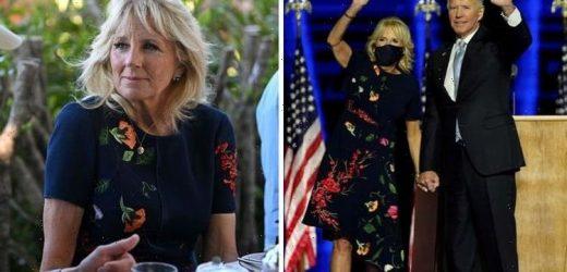 Jill Biden 'splendid' in recycled £4000 Oscar de la Renta dress during G7 summit