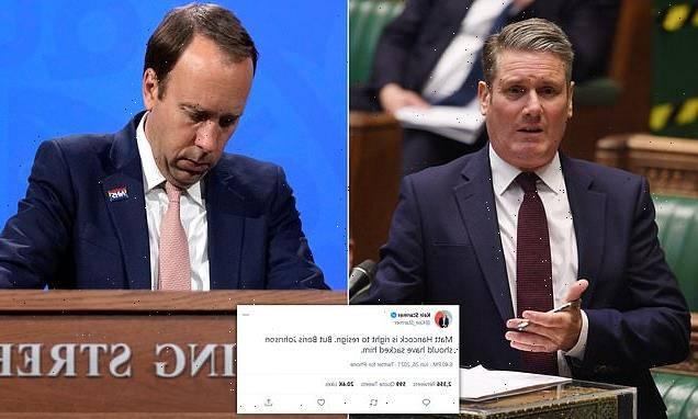 'Johnson should have sacked him': Labour leader Keir Starmer