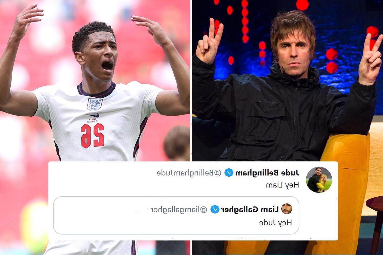 Jude Bellingham celebrates historic Euro 2020 cap in tweet exchange with Oasis legend Liam Gallagher