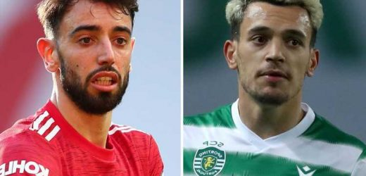Man Utd and Liverpool in £52m transfer battle for Bruno Fernandes' Sporting Lisbon replacement Pedro Goncalves