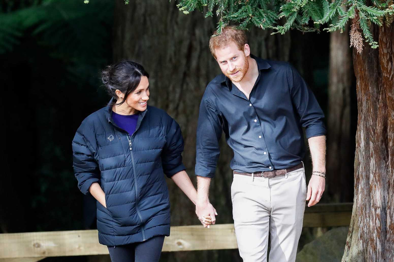 Meghan Markle is 'back on her feet and walking dogs' with baby Lilibet while Harry 'picks vegetables from the garden'