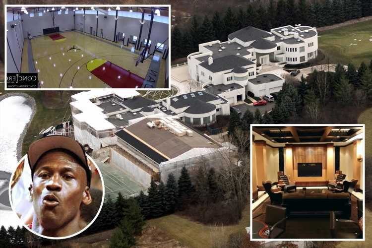Michael Jordan's £12m house has been on the market for EIGHT years with basketball court, cigar lounge and No 23 gates – The Sun