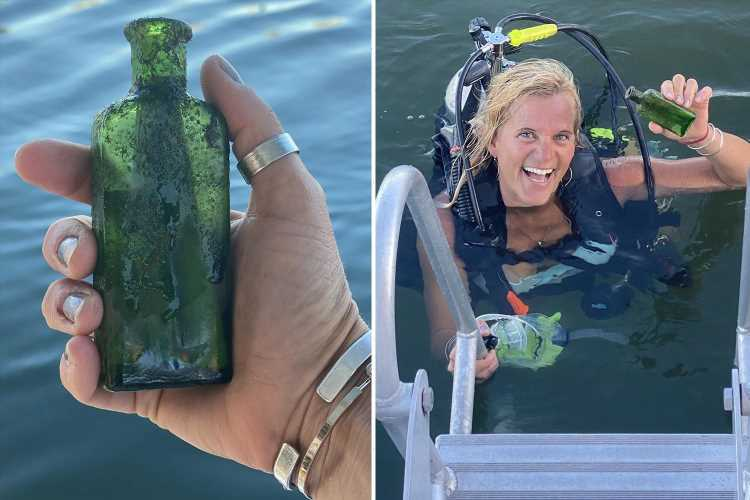 Mum finds 100-year-old message in a bottle while scuba diving and tracks down author's 'flabbergasted' daughter