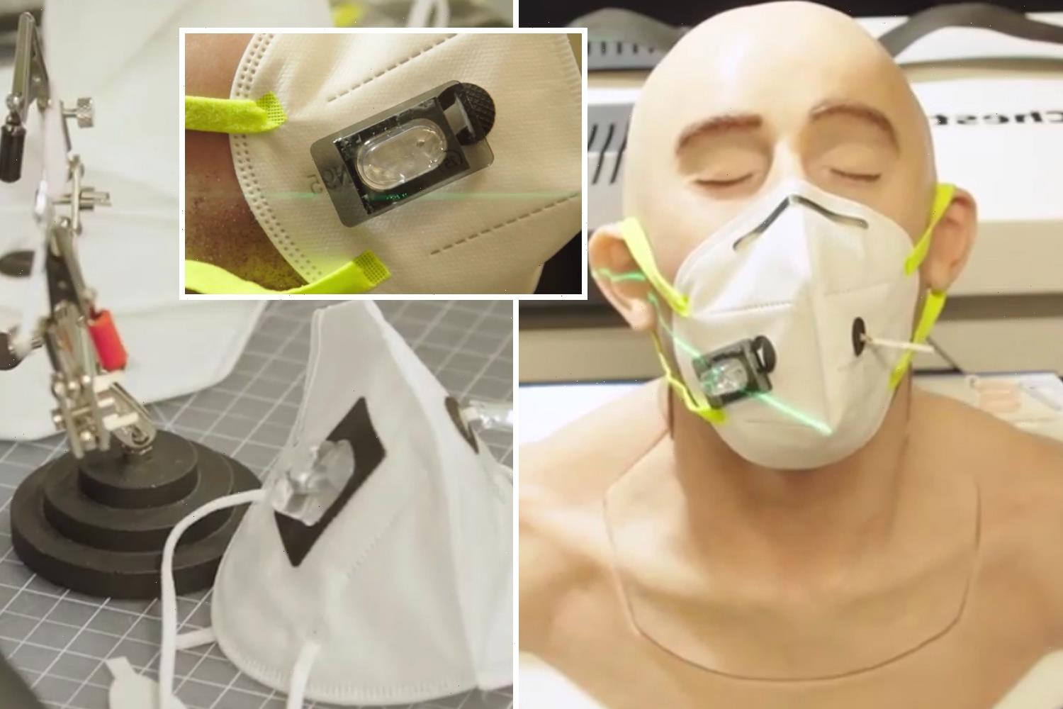 New face masks could detect if you have Covid – changing colour if you're infected