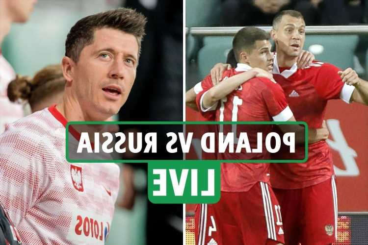 Poland 1-1 Russia LIVE SCORE: Karavaev cancels out Swierczok strike as Lewandowski looks on in Euro 2020 warm-up