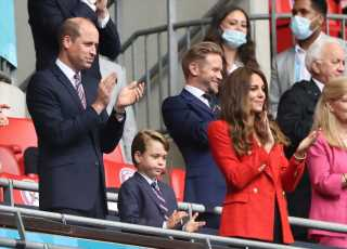 Prince George Helps Cheer England to Victory at Wembley Stadium