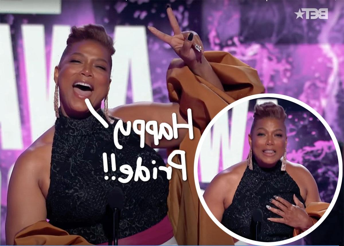 Queen Latifah Makes Rare Comment On Sexuality While Accepting Lifetime Achievement Award At BET Awards!