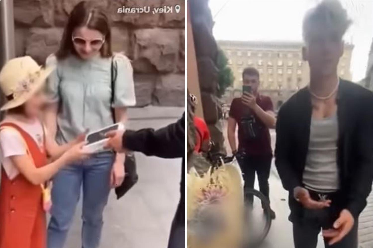 TikToker leaves girl in tears after giving her new phone in 'touching clip' for likes… only to snatch it back later