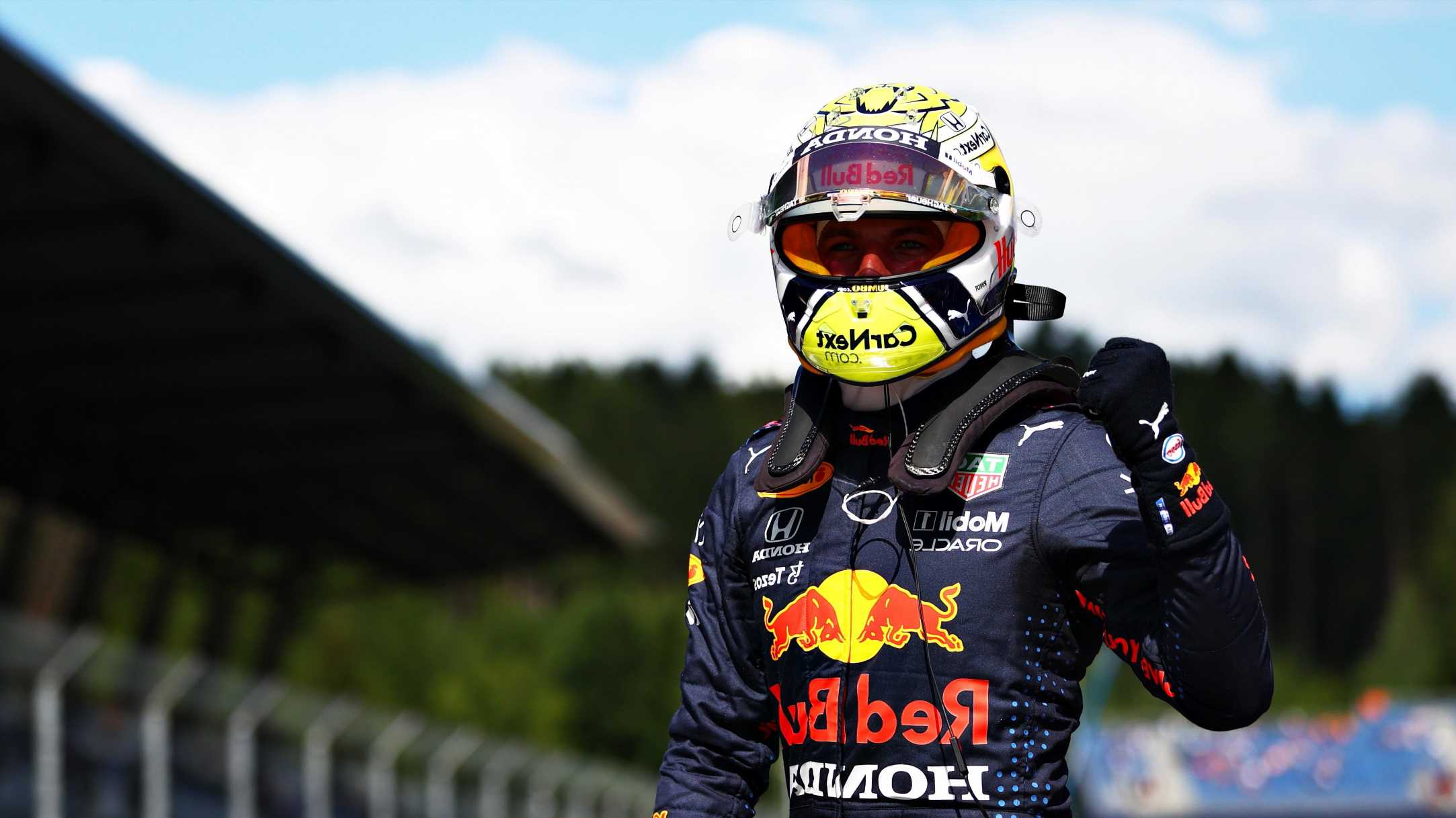 Verstappen on pole for Styrian GP with Hamilton promoted to second on grid after Bottas penalty