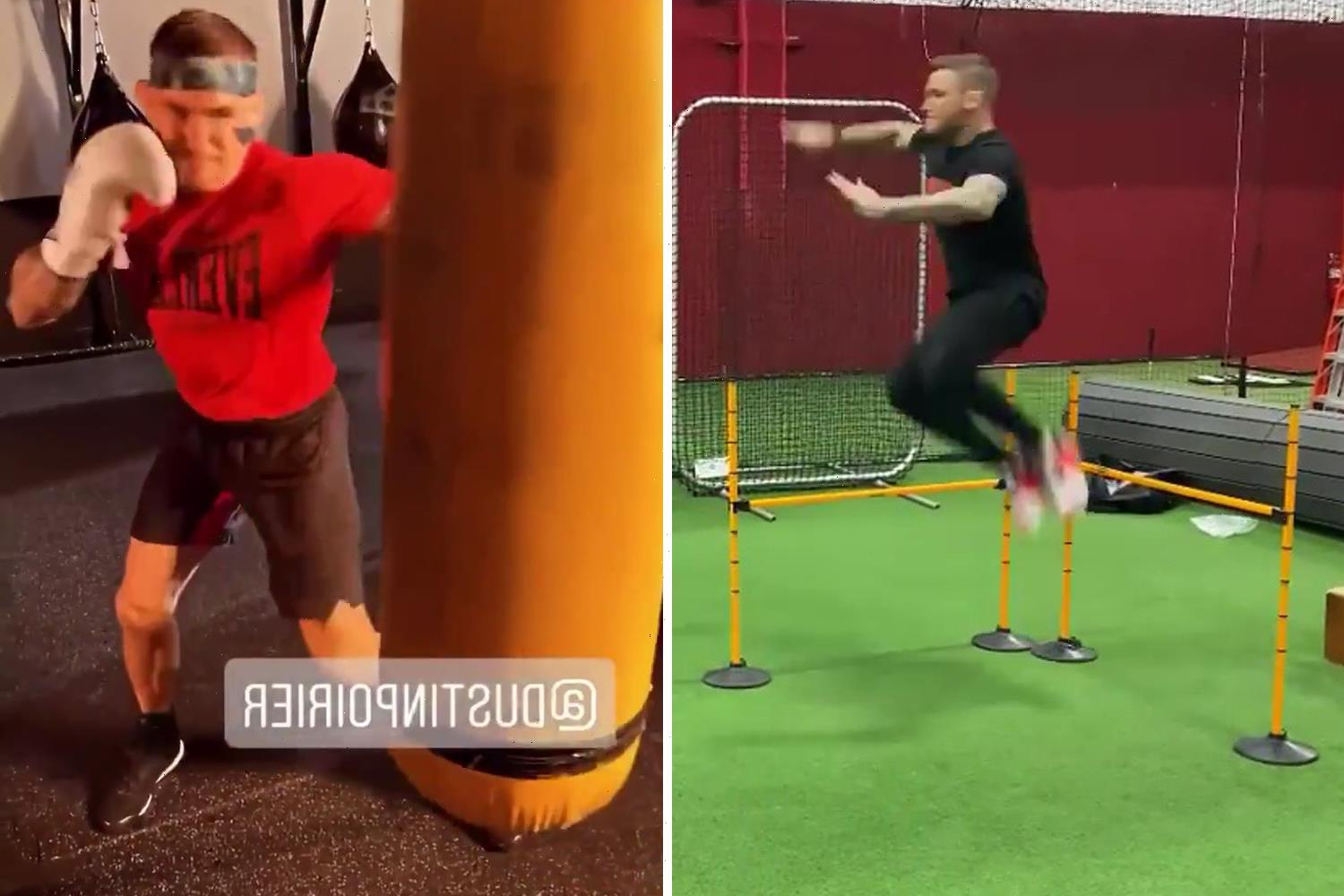 Watch Dustin Poirier's impressive boxing and agility training as UFC star enters last stage of Conor McGregor fight camp